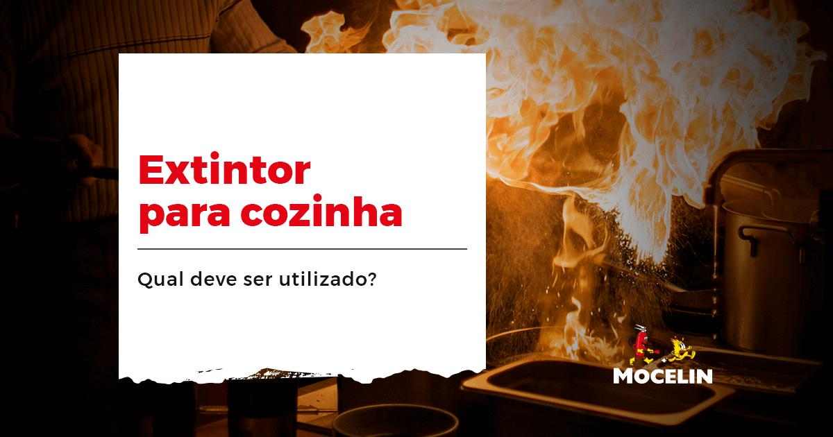 Extintor para cozinha - a imagem representa um incêndio na cozinha, para representar o conteúdo que fala sobre extintor para cozinha